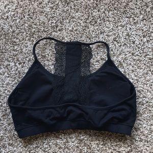 Fabletics lace back strappy sports bra